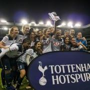 Spurs Ladies Celebrating