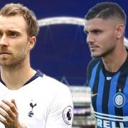 Spurs v Inter Milan - Eriksen and Icardi